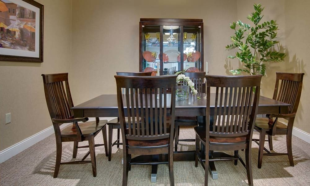 Private dining space at Willow Springs Senior Living in Spring Hill, Tennessee