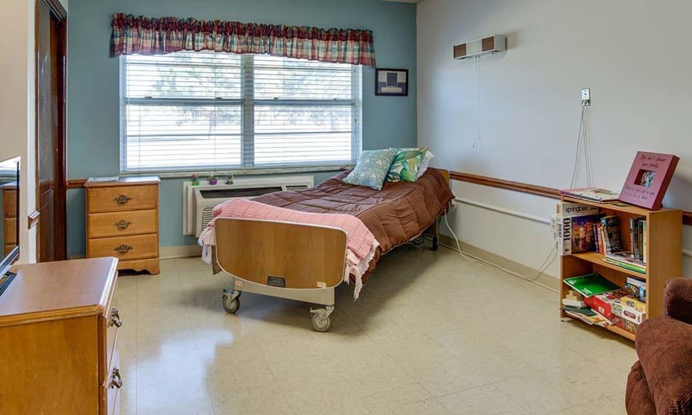 Private nursing room at Wheatland Nursing Center in Russell, Kansas
