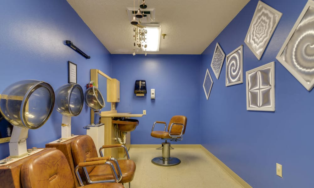 Community salon at Wheatland Nursing Center in Russell, Kansas
