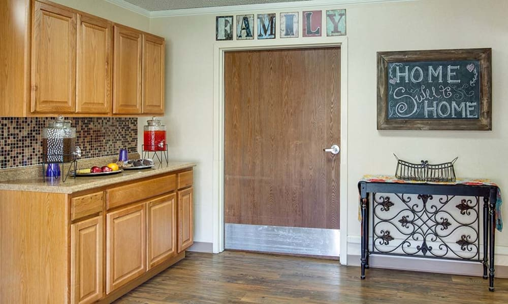 Resident kitchen at Wheatland Nursing Center in Russell, Kansas