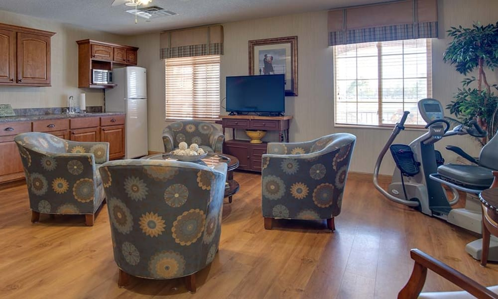 Common area at Waldron Place Senior Living in Hutchinson, Kansas