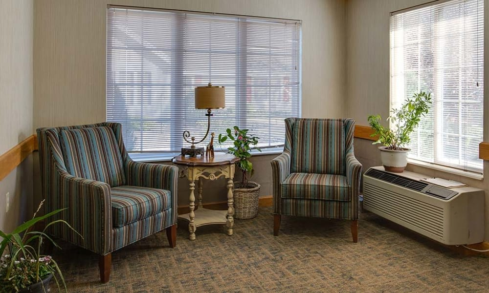 Private bedroom for rent at Waldron Place Senior Living in Hutchinson, Kansas