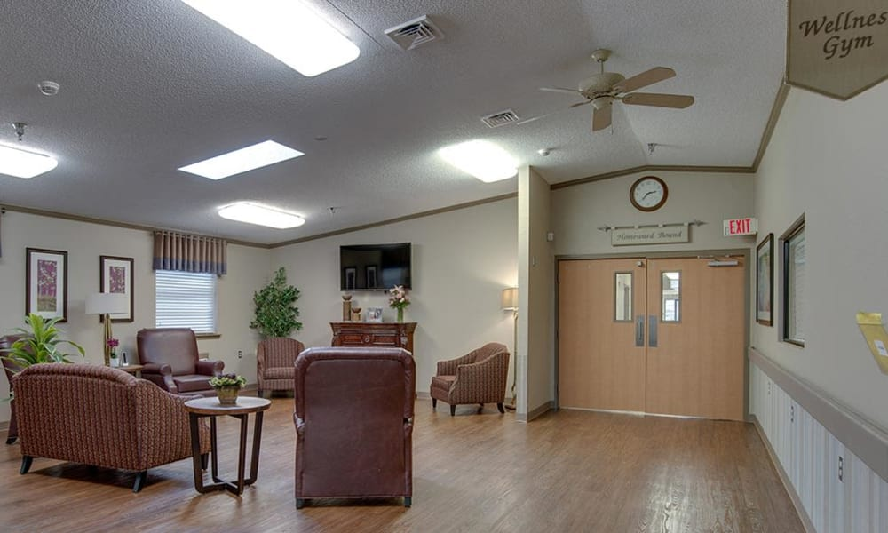 Exercising room and kitchen at St. Clair Nursing Center in Saint Clair, Missouri