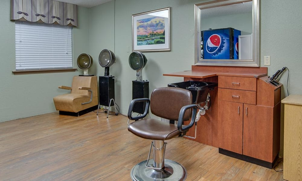 On-site hair salon at St. Clair Nursing Center in Saint Clair, Missouri