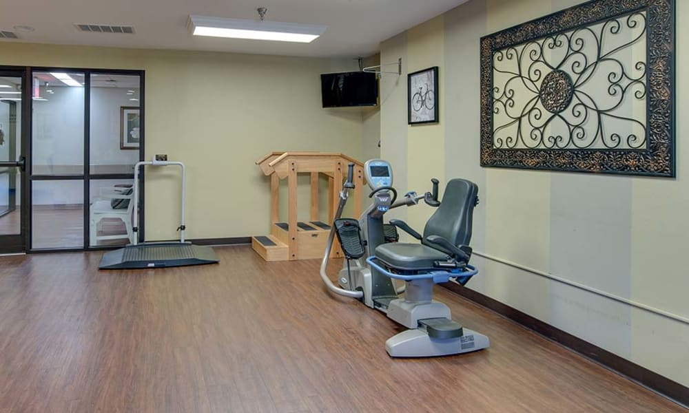 On site exercising room at Quaker Hill in Baxter Springs, Kansas