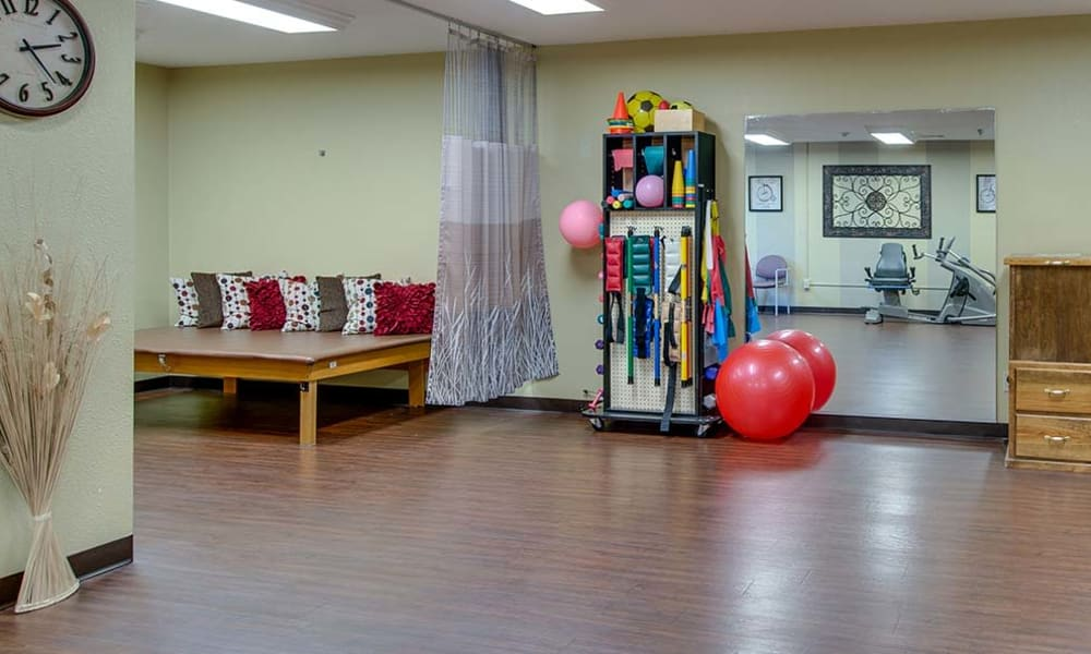 Exercising room at Quaker Hill in Baxter Springs, Kansas
