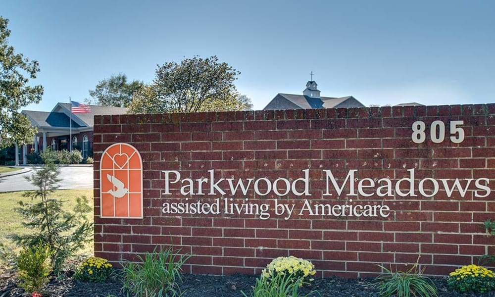 Branding and Signage outside of Parkwood Meadows Senior Living in Sainte Genevieve, Missouri