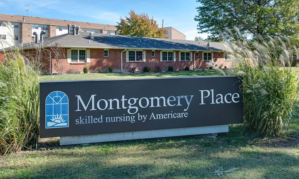 Branding and Signage outside of Montgomery Place in Independence, Kansas