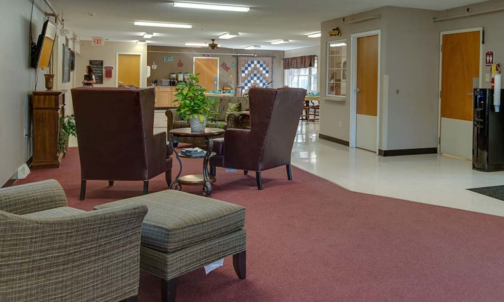 Music room with seating at Montgomery Place in Independence, KS