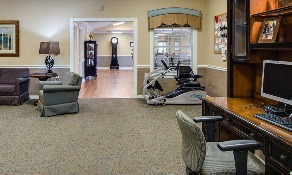 Community office at Lakewood Senior Living in Springfield, Missouri