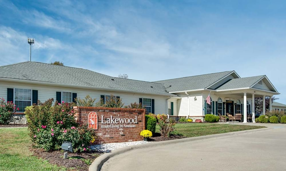Branding and Signage outside of Lakewood Senior Living in Springfield, Missouri