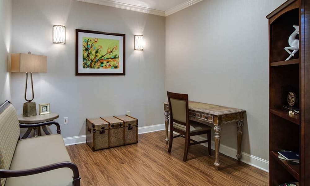 Relaxation lounge at Lakewood Senior Living in Springfield, Missouri