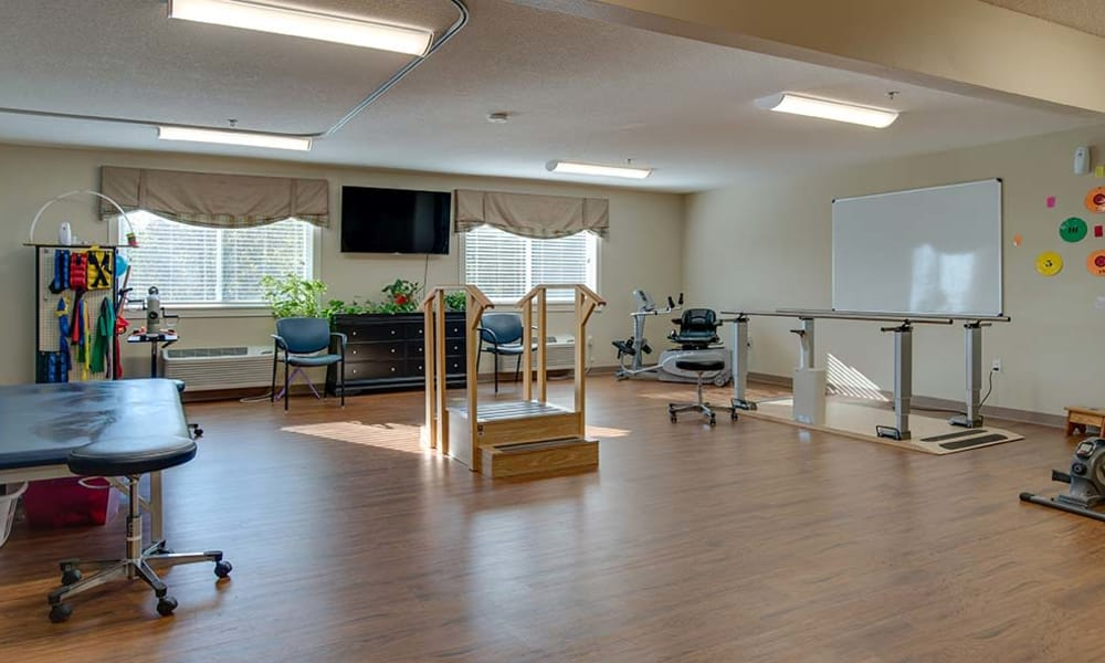Rehabilitation gym at Galena Nursing Center in Galena, Kansas