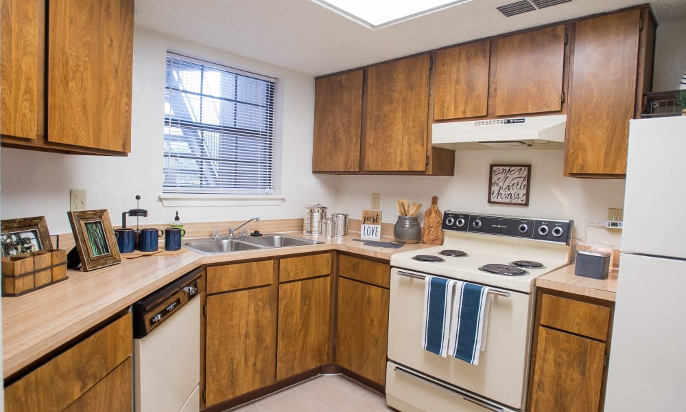 Kitchen at Copperfield Apartments in Oklahoma City, Oklahoma