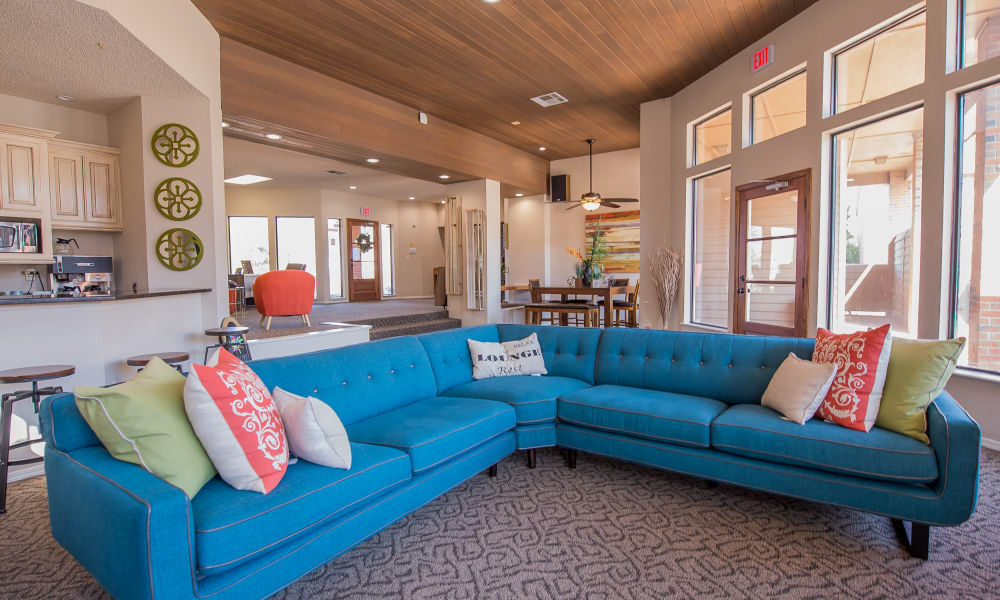 Luxury clubhouse at Copperfield Apartments in Oklahoma City, Oklahoma