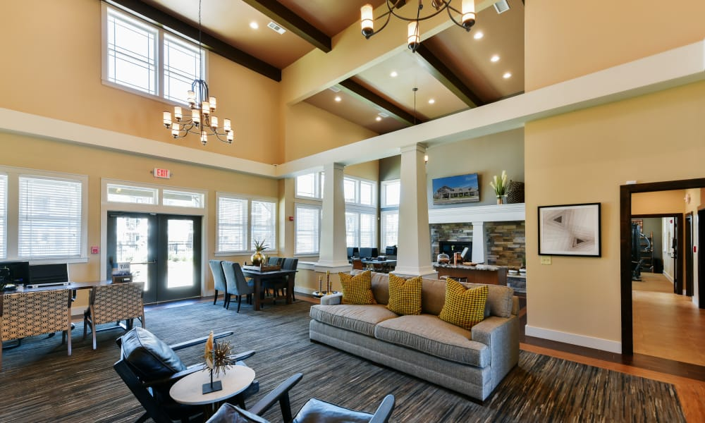 Clubhouse at Cottages at Abbey Glen Apartments in Lubbock, Texas