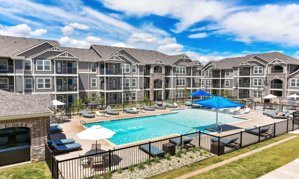 Cottages at Abbey Glen Apartments offers a beautiful swimming pool in Lubbock, Texas