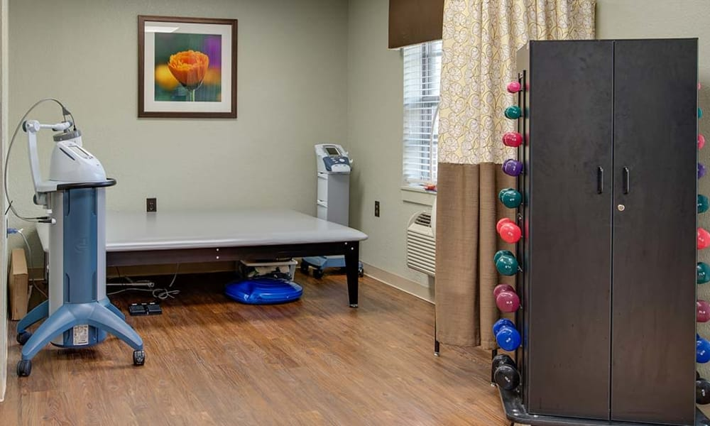 Specialized rehabilitation equipment at Eureka Nursing in Eureka, Kansas