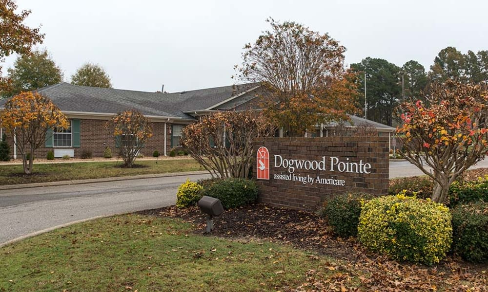 Branding and Signage outside of Dogwood Pointe in Milan, Tennessee