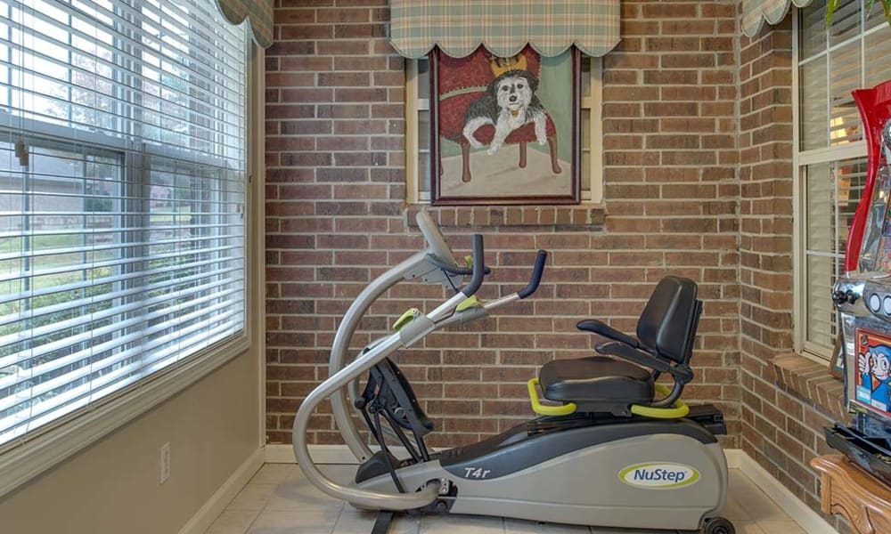 Exercise equipment at Dogwood Pointe in Milan, Tennessee