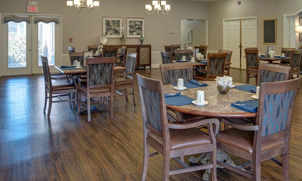 Community activity room at Chestnut Glen Senior Living in Saint Peters, Missouri