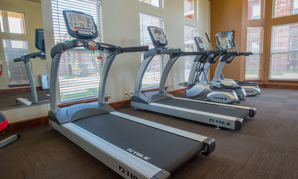 Fully equipped gym for residents at Icon at Norman in Norman, Oklahoma