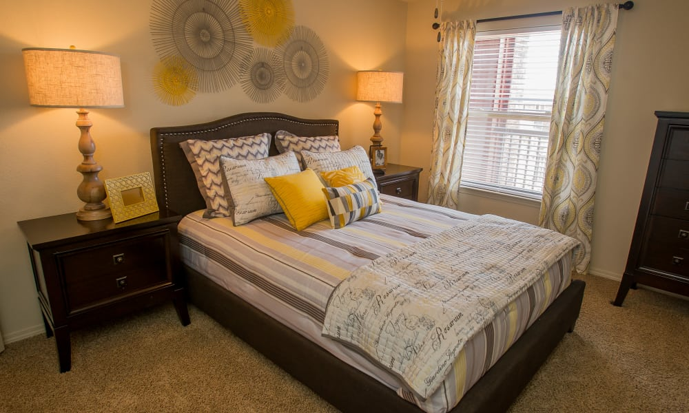 Spacious bedroom at Icon at Norman in Norman, Oklahoma