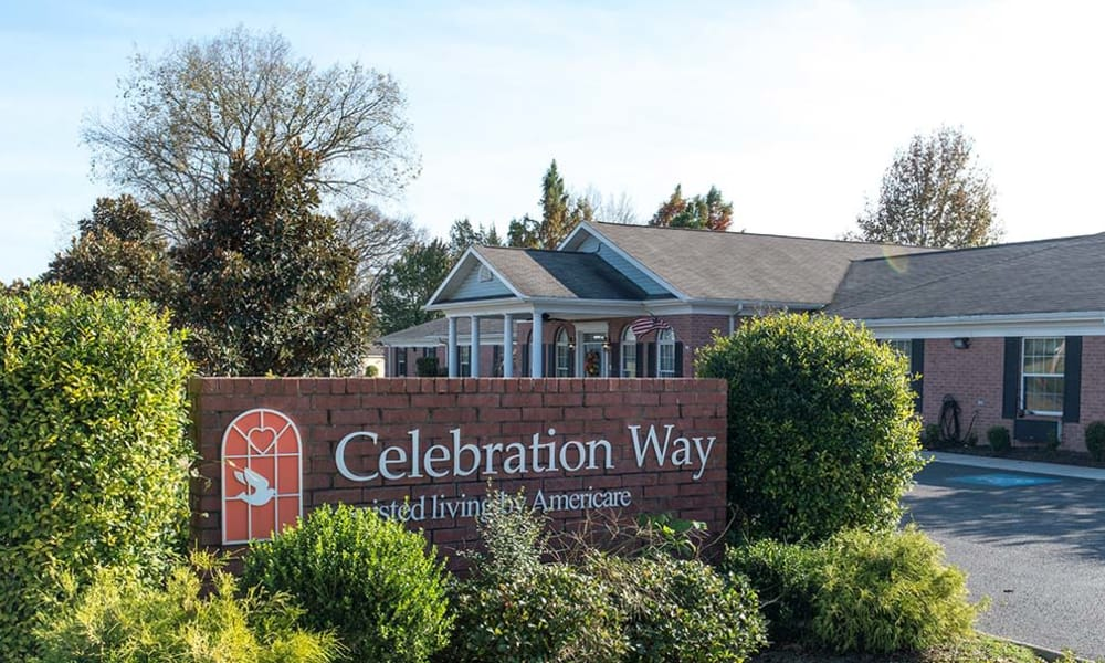 Branding and Signage outside of Celebration Way in Shelbyville, Tennessee