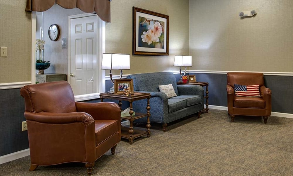 Community room with seating at Celebration Way in Shelbyville, Tennessee