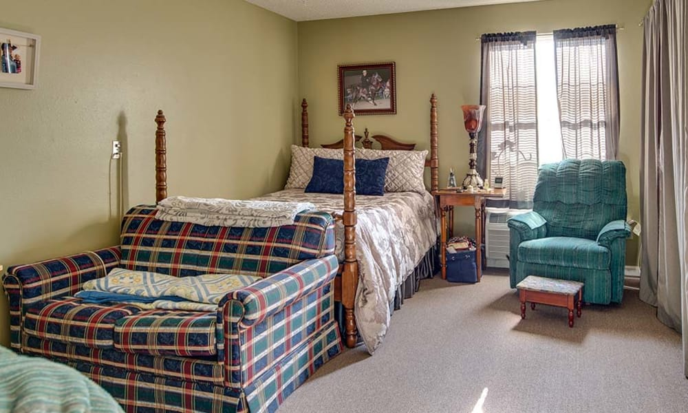 Large Assisted Living bedroom at Celebration Way in Shelbyville, Tennessee