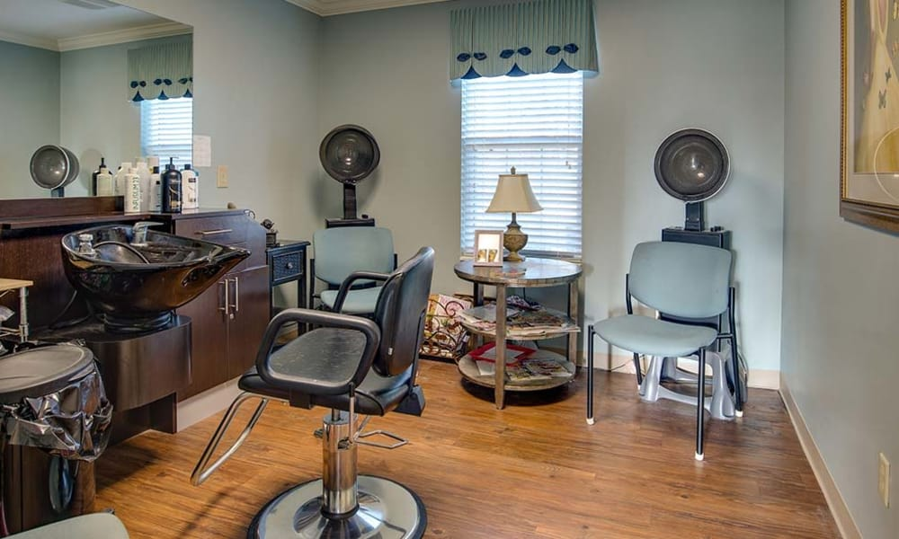 Community hail salon at Celebration Way in Shelbyville, Tennessee
