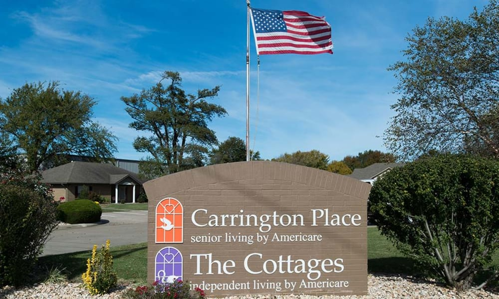 Branding and Signage outside of Carrington Place Senior Living in Pittsburg, Kansas