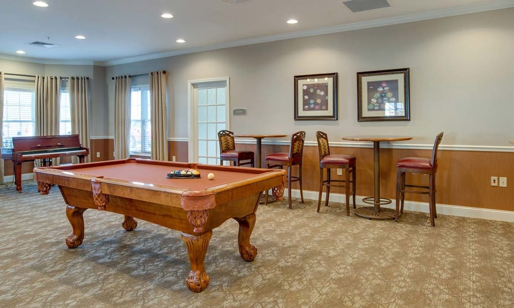 Capetown Senior Living offers a game room in Cape Girardeau, Missouri