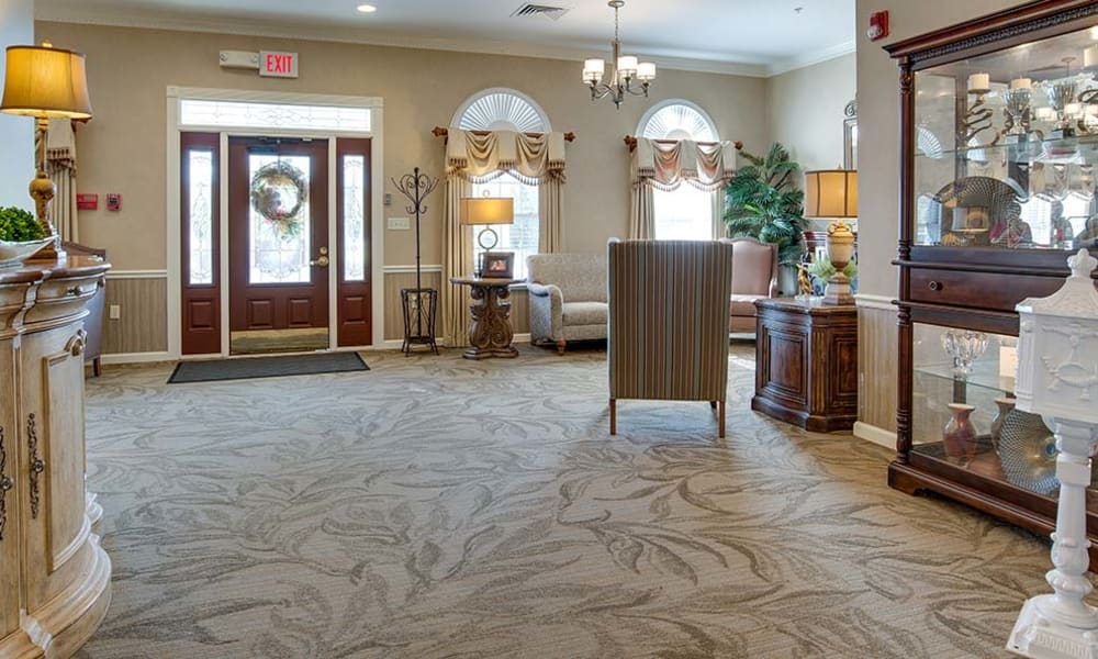Common room in our senior living community at Capetown Senior Living in Cape Girardeau, Missouri