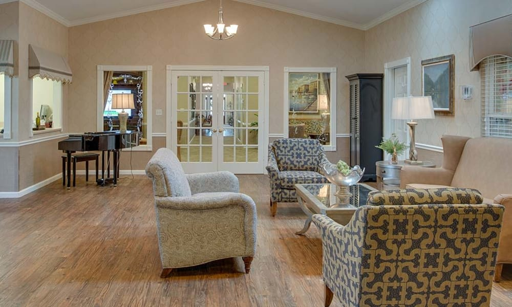 Lounge in our senior living community at Capetown Senior Living in Cape Girardeau, Missouri