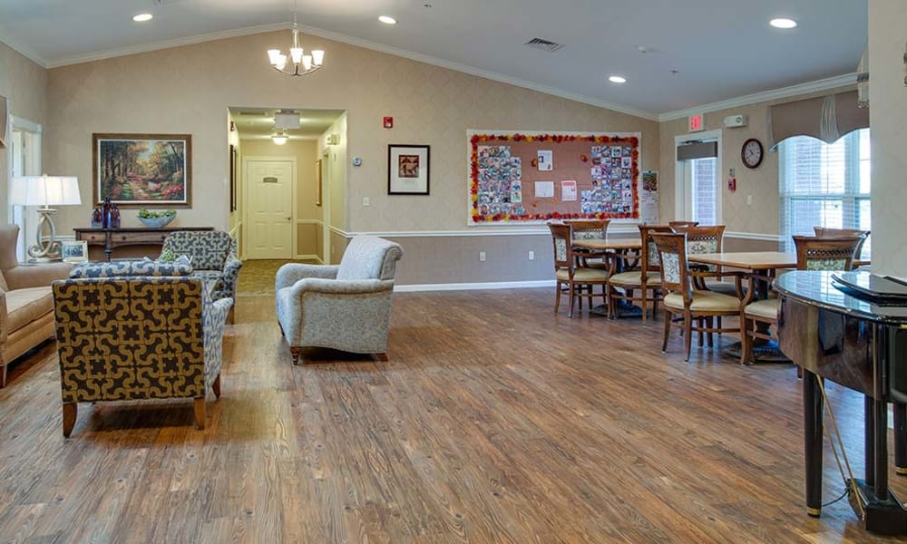 Our assisted living facility at Capetown Senior Living in Cape Girardeau, Missouri offers a common room