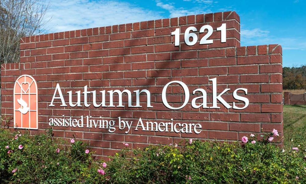 Branding and Signage outside of Autumn Oaks in Manchester, Tennessee