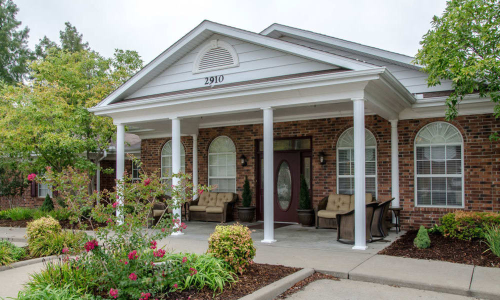 Memory care building at Auburn Creek Senior Living in Cape Girardeau, Missouri
