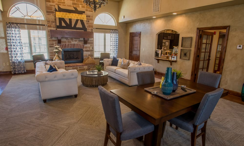 Clubhouse lobby of Tuscany Ranch's clubhouse in Waco, Texas