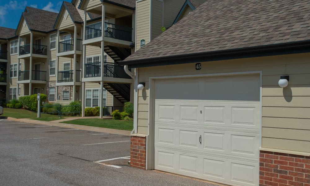 Garages at Villas at Stonebridge in Edmond, Oklahoma