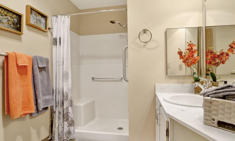 Bathroom at Mountlake Terrace Plaza in Mountlake Terrace, Washington