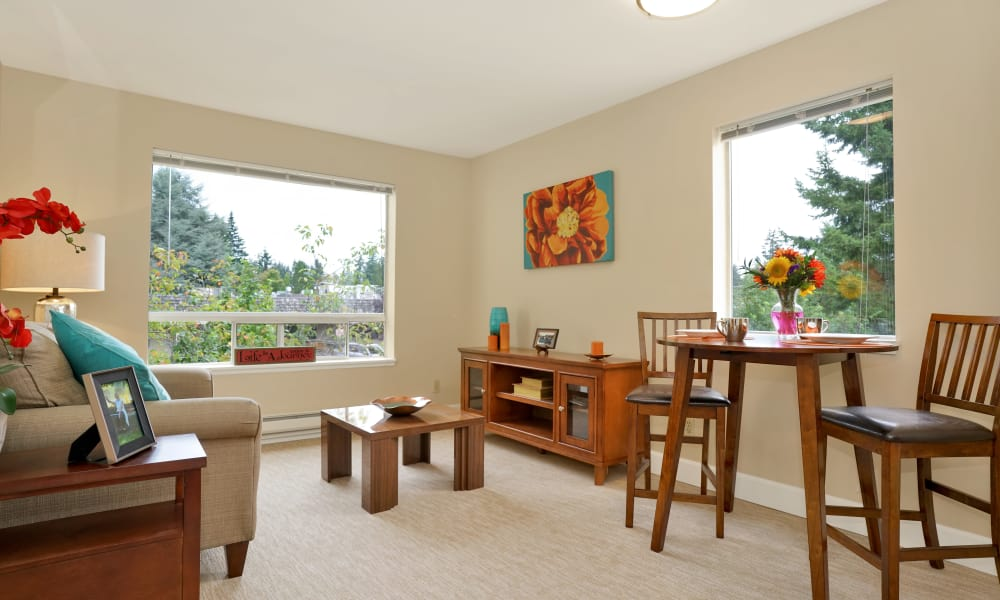 Living space at Mountlake Terrace Plaza in Mountlake Terrace, Washington