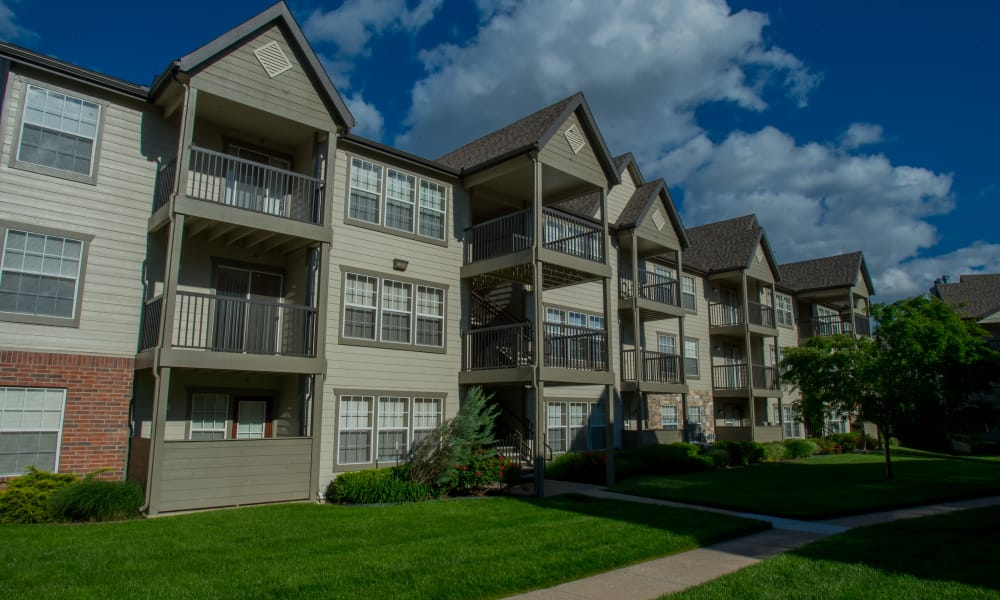 Apartment buildings at Villas of Waterford Apartments in Wichita, Kansas