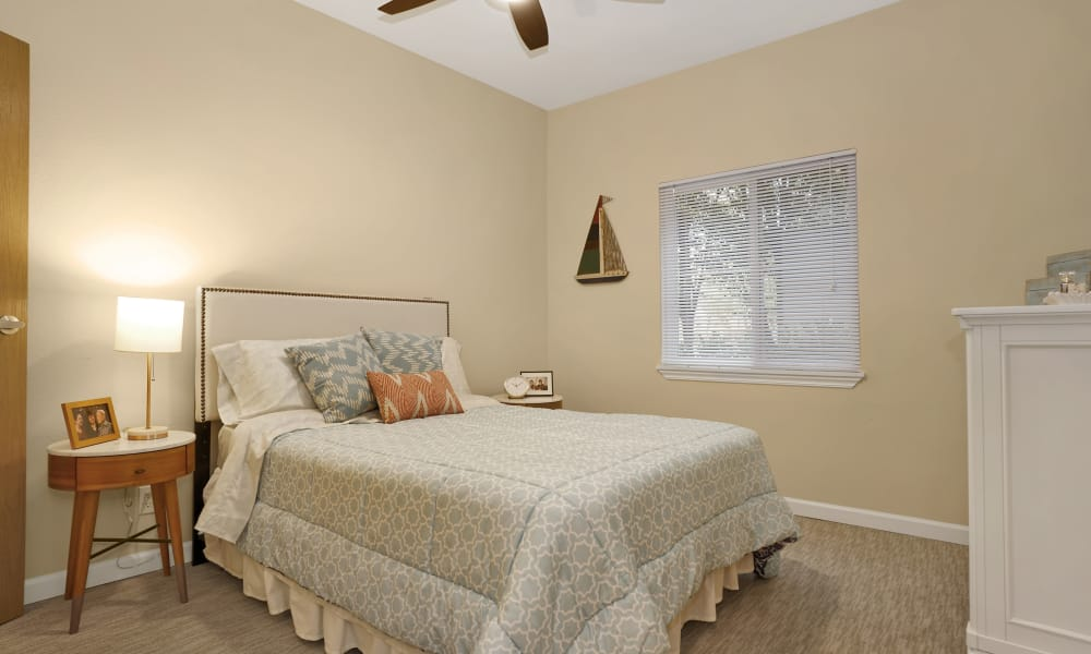 Bedroom at Island House Assisted Living in Mercer Island, Washington