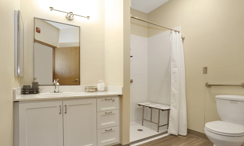 Bathroom at Island House Assisted Living in Mercer Island, Washington