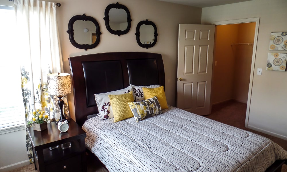 Cozy bedroom at Winchester Apartments in Amarillo, Texas