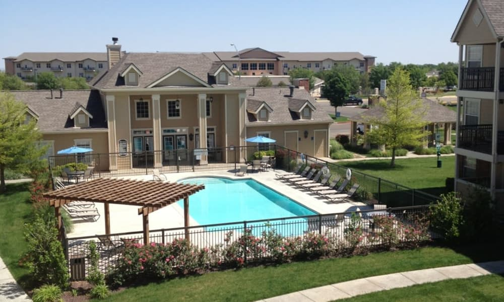Resort-style pool at Winchester Apartments in Amarillo, Texas
