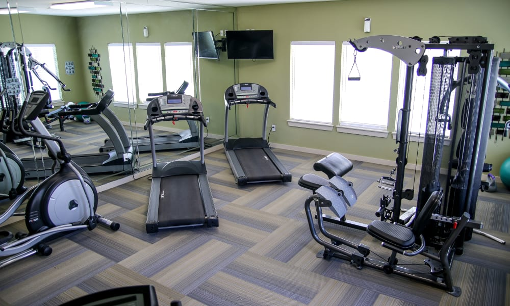 The gym at Winchester Apartments in Amarillo, Texas