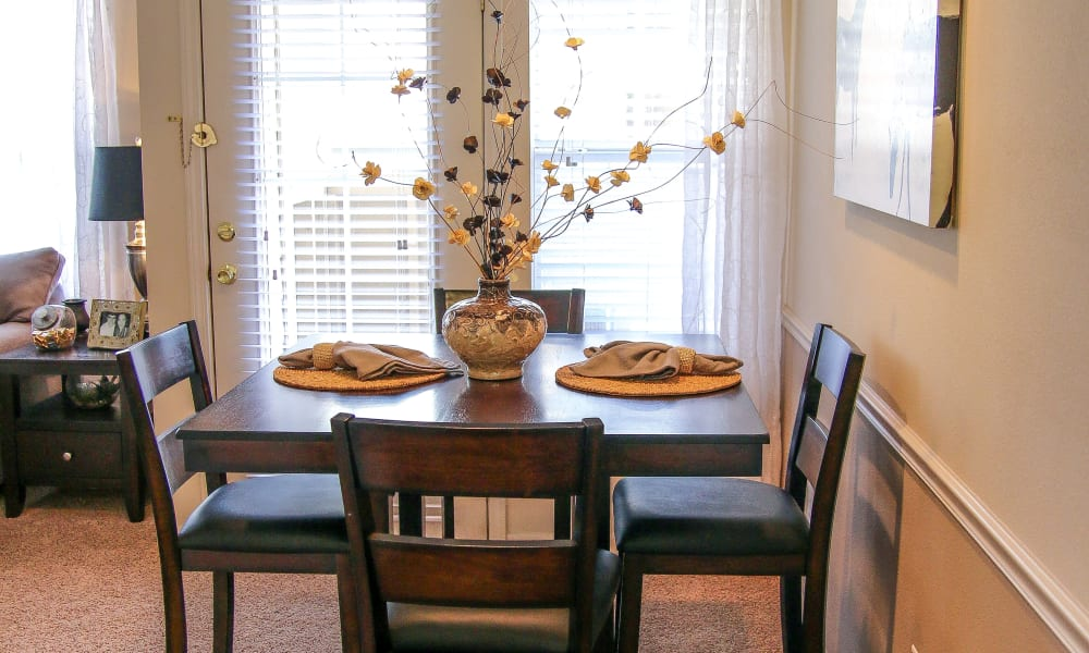 An apartment dining room at Winchester Apartments in Amarillo, Texas
