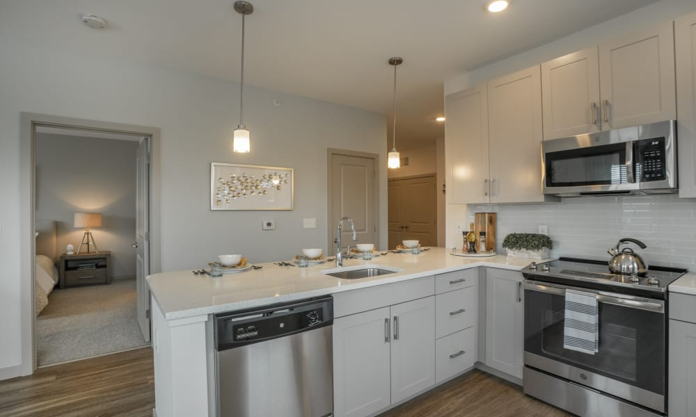 Our apartments in East Walpole, Massachusetts showcase a spacious kitchen
